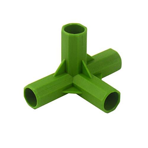 Gardening Will Steckverbinder für Gewächshäuser, 4 Wege, 11 mm, PVC, robust, 10 Stück
