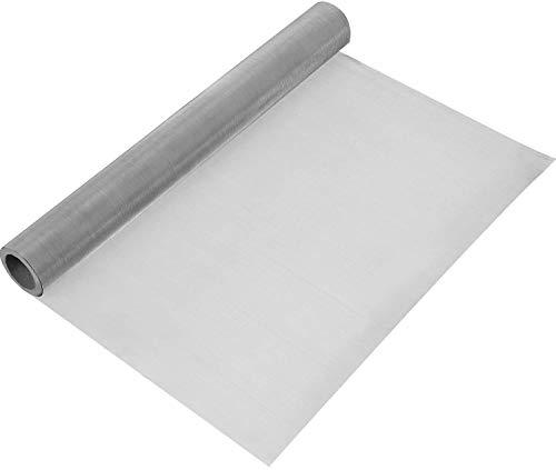 Rete metallica tessuta 120, 1 schermo a rete in acciaio inossidabile 304 da 30 * 100 cm 304 per fai da te, sfiato, filtro, sicurezza, finestre e giardino ecc(120Mesh-AM)