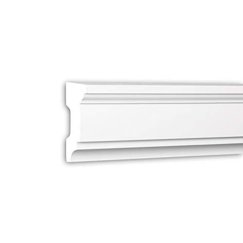 contorno finestre esterne PRO[f]home® - Davanzale 482101 cornice per esterno contorno finestre elemento di facciata stile neoclassico bianco 2 m Profhome