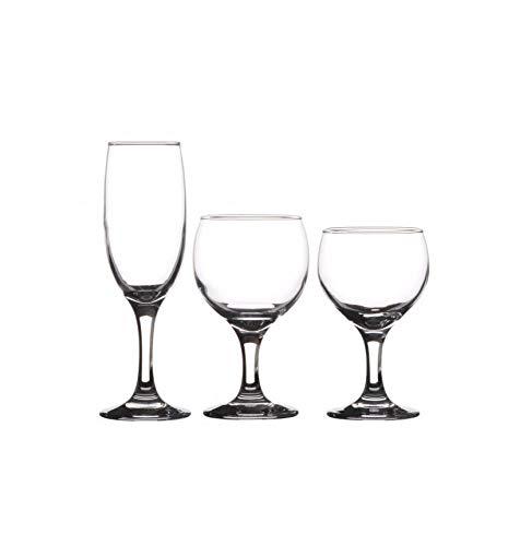 Juego de 18 copas de vino con patas rojas, blancas y champán, copas de vino tinto, copas de vino blanco, copas de champán, juego de copas de champán