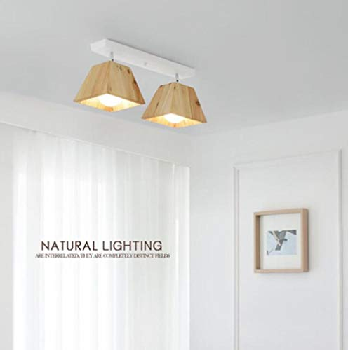 Woonkamer-plafondlamp van massief hout, creatief restaurant, voor creatieve studio, portisch balkon, plafondlamp van hout