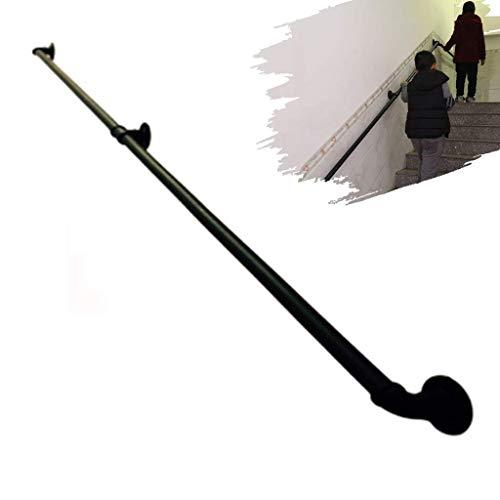 WEHOLY Handläufe Haltegriffe Stützgriff Handlauf Geländer Geländer für Innentreppen, Metallhandläufe für Außentreppen an der Wand, Schienenhandlaufhalterungen für Treppen außen, direkt an Sta