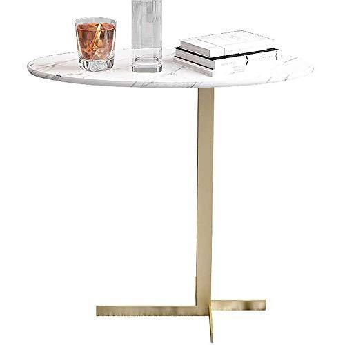 GRXXX 20'X10 X20 Oval de mármol Mesita, Mesas para sofá de la Sala End Mesa Decorativa para el Ordenador portátil de café