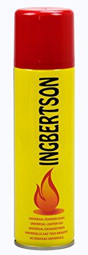Ingbertson® 1x Feuerzeuggas 250ml Nachfüller Gas fürs Feuerzeug Butan-/Propangemisch