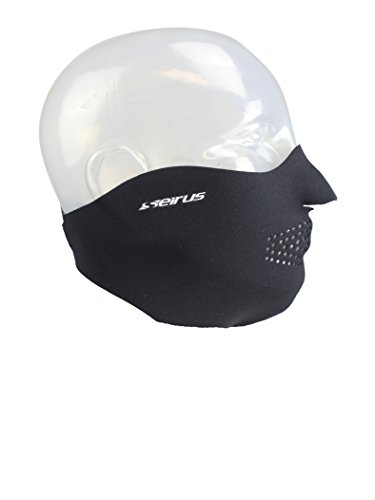 Seirus Innovation 6805 Original Neoprene Adjustable Face Masque - Winter Cold Weather Face Protection Black,Medium