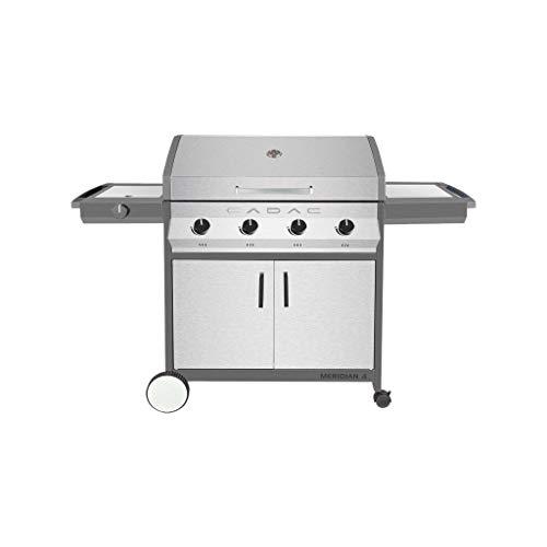 Cadac - Barbecue a gas Meridian in acciaio inox, 4 bruciatori