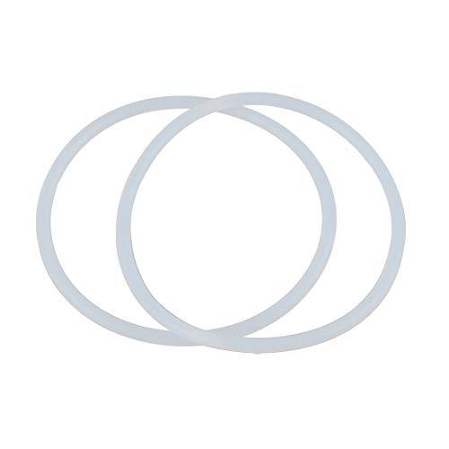 sourcing map 2 STK. O-Ring VMQ Dichtungsscheiben Silikon Gummi 85mm x 4mm Weiß für Auto