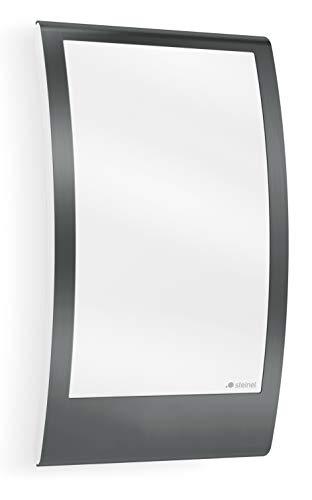 Steinel Außenleuchte L 22 Anthrazit, Edelstahl-Blende, max. 60 W Außenwandleuchte, E27 Fassung, moderne Wandleuchte