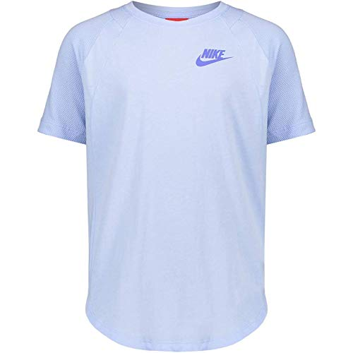 Nike g NSW Top SS, Royal Tint/LT Racer Blue, Small
