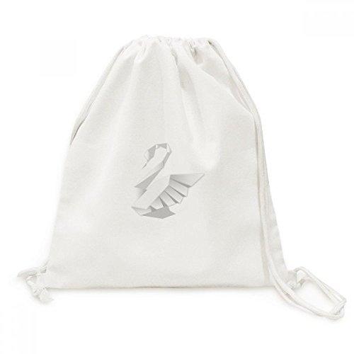 DIYthinker White Swan Modelo Abstracto de la Mariposa de la Lona del morral del Lazo de Viaje Bolsas de la Compra