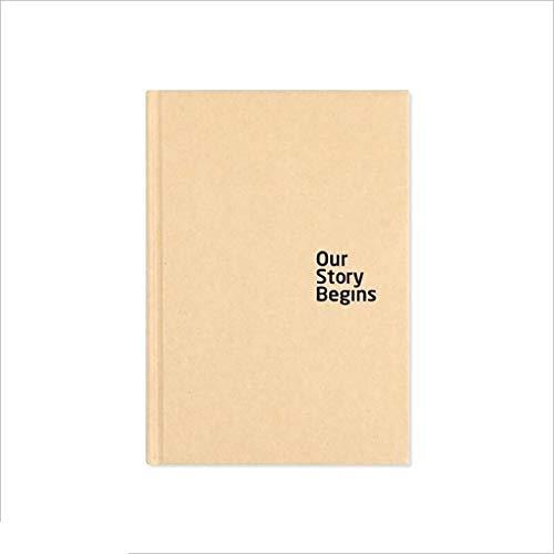 Estudiantes y suministros de oficina MMGZ 575360974670 serie Pure Papel Kraft Tapa dura Libreta A5 blanco Interior Página simple cuaderno de escritorio La alta calidad