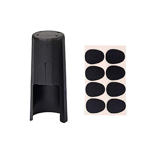 Healifty - Punta de saxofón con Tapa de Hebilla metálica para Parches y Almohadillas (Negro)