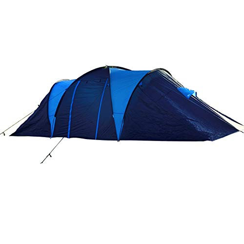 Camping Tent 10-Person-Family Tents, Large Size, 3 Inner Room with Breathable Fabric and Mesh, Four Seasons Outdoor Tents with Carry Bag