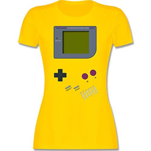 Nerds & Geeks - Gameboy - XXL - Gelb - 90er Jahre Tshirt - L191 - Tailliertes Tshirt für Damen und Frauen T-Shirt