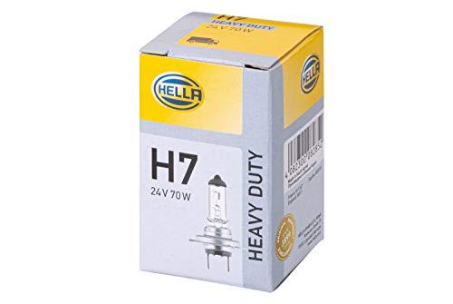 HELLA 8GH 007 157-241 Lámpara - H7 - Heavy Duty - 24V - 70W - Tipo de portalámpara: PX26d - caja - Cant.: 1