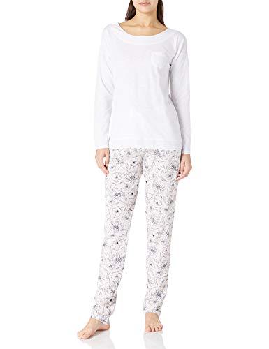 Lovable Slub Cotton Jersey+Modal Pigiama Lungo Donna