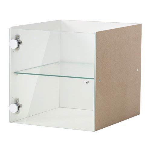 IKEA KALLAX Vitrinentüreinsatz weiß; (33x33cm); Kompatibel mit EXPEDIT