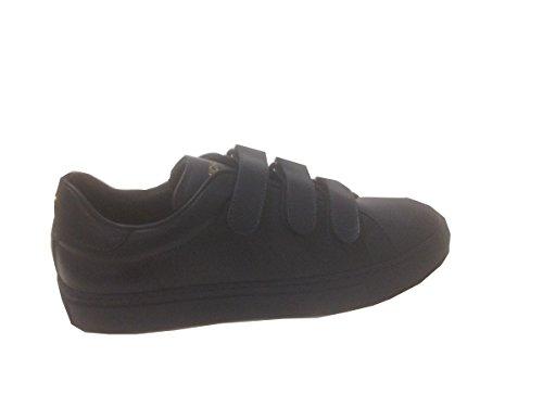 Michael Michalsky Herren Sneaker Gr. 41 (41,5) dunkelblau Velcro Leder
