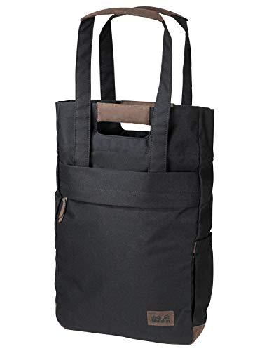Jack Wolfskin Piccadilly Schultertasche Tasche Schopper Rucksack Umhängetasche, schwarz, Einheitsgröße