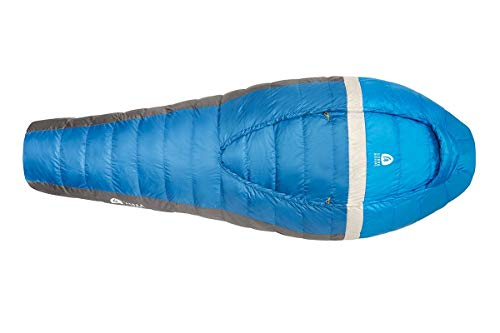 Sierra Designs Backcountry Bed 35, Lightweight Zipperless Backpacking 35 Degree Sleeping Bag with Insulated Hand/Arm Pockets, Comforter Like Design & More, Regular