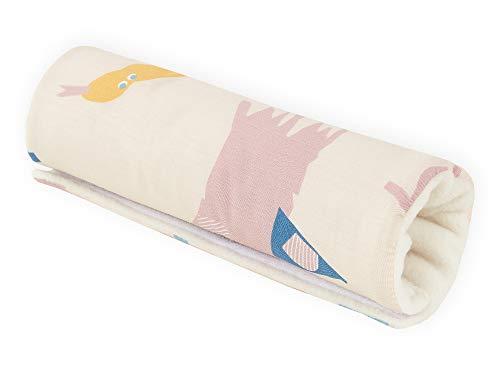 KraftKids - Protector de brazo en muchos colores y diseños modernos, asa de 28 cm de longitud, almohadilla para el brazo para llevar la sillita de bebé de forma agradable Zoe´s Dinosaurier auf Beige