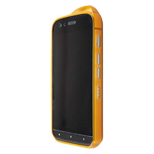 caseroxx TPU-Hülle für CAT S61, Handyhülle mit oder ohne Bildschirmschutzfolie (TPU-Hülle, orange)