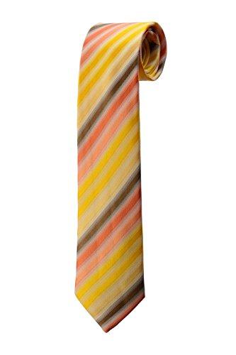 Cravate en rayures dégradées du jaune au marron DESIGN costume homme mariage