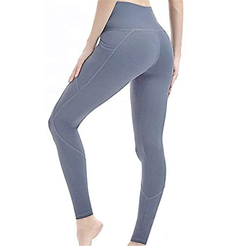 Pantalones de Yoga de Barriga sin Costuras de energía para Mujer, Mallas de Fitness de Cintura Alta elásticas, Pantalones de Entrenamiento Push-up EM