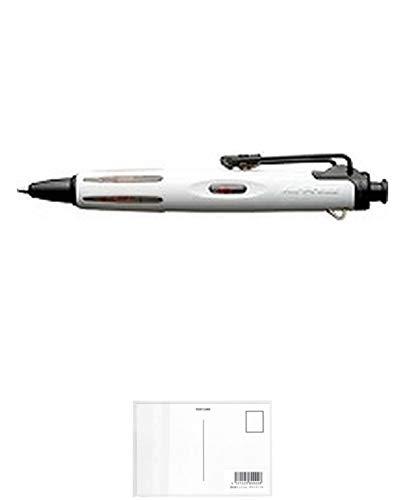 トンボ鉛筆 ボールペンエアプレス21ホワイト BC-AP21 3個セット + 画材屋ドットコム ポストカードA