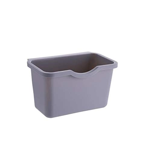 Cubo de basura para colgar en puertas de armario de cocina, almacenamiento de residuos de vegetales y alimentos y residuos de alimentos. Educación musical, concierto, curación mental (color negro).