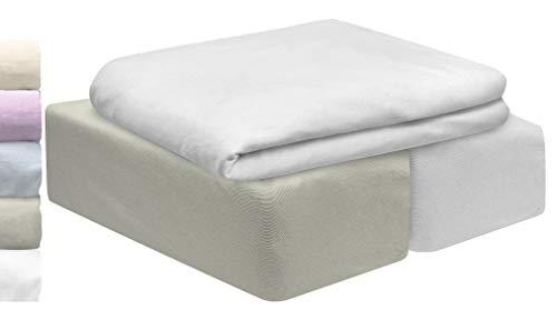 Lovely Hippo | Juego 3 PZA 60X120cm | 2 Sábanas para cuna Algodón BIO & 1 protector impermeable para colchón | Grandes gorros elásticos completos | OEKO TEX para cuna (gris, 60 x 120 cm)