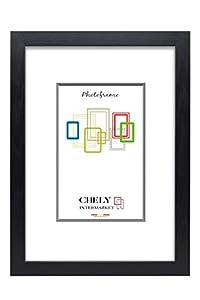 Chely Intermarket, Marco de Fotos Grandes 40x60 cm (Negro) MOD-254, Hecho de Madera, Ancho de Bastidor 1,20 cm con Acabado Elegante | Marco para títulos y certificados (254-40x60-1)