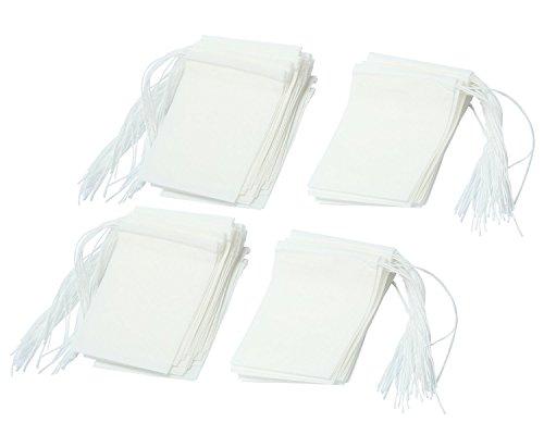 niceeshop(TM) Sachet de Thé Jetable en Papier Filtrant(Blanc, Taille de XS, Kit de 100)