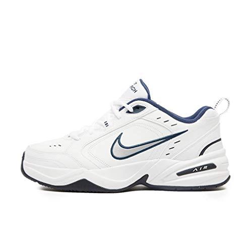 Nike Fitnessschuhe, Herren Air Monarch Iv, Weiß - Weiß Metallic Silber - Größe: 42.5 EU