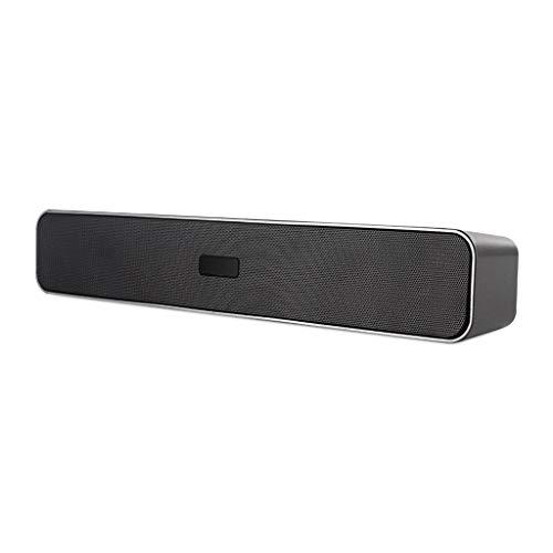 prasku 3D Surround Soundbar Bar Drahtloser Bluetooth Laptop Lautsprecher Mehrfacheingang 385 Mm - Grau