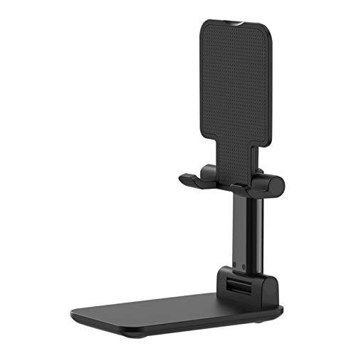 Leeofty Soporte para teléfono móvil para Tableta de Escritorio Soporte de ángulo de Altura Ajustable Soporte para teléfono Celular Plegable Compatible con Todos los teléfonos móviles/tabletas