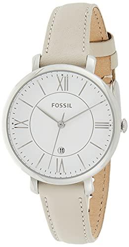 Fossil Damen Analog Quarz Uhr mit Leder Armband ES3793