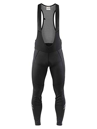 Craft Ideal Wind Thermal Tirantes Mallas de Ciclismo para Hombre, Hombre, Color Negro, tamaño FR: S (Talla Fabricante: B: S)