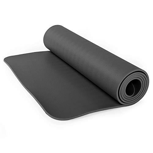 Bodhi Ultra Grip Kautschuk-Yogamatte ECOPRO Diamond, Premium-Matte, extrem rutschfest & extra stark, 100% Naturkautschuk, Ökotex 100, 6mm, auch für Hot Yoga, Gymnastik und Pilates