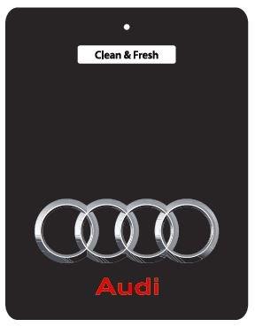 Audi Lufterfrischer fürs Auto, Schwarz, für Audi 80, 90, 100, A2, A3, A4, A6, A8, Coupe, Quattro, RS4, S2, S3, S4, S6, S8, TT, RS