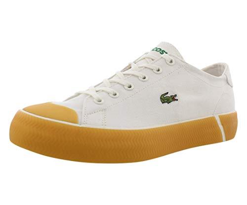 Lacoste Women's Gripshot Sneaker, White/Gum, 8 Medium US