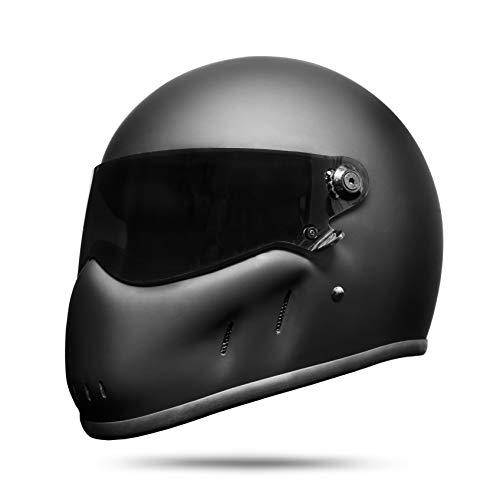 ATO Moto Night - Casco integral para moto, color negro mate