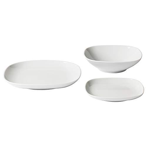 IKEA 702.773.54 Värdera Geschirr-Set, 18-teilig, Weiß