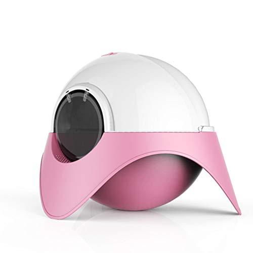 YUYAXCT Muschelschale Katzentoilette, Staubdicht Katzenklo, Modernes Design, Einfach Zu Säubern, Größe: 62 * 62 * 48 cm, Pink