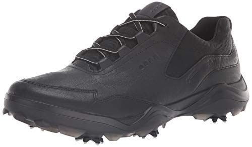 ECCO Men's Strike Gore-TEX Golf Shoe, Black Yak Leather, 45 M EU (11-11.5 US)