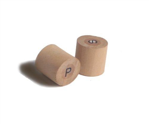 "Pre-Filled Mini Salt and Pepper Set (Case of 100), PacknWood - Mini Salt and Pepper Shakers (D:0.7"" H:0.75"") 210BKPS"