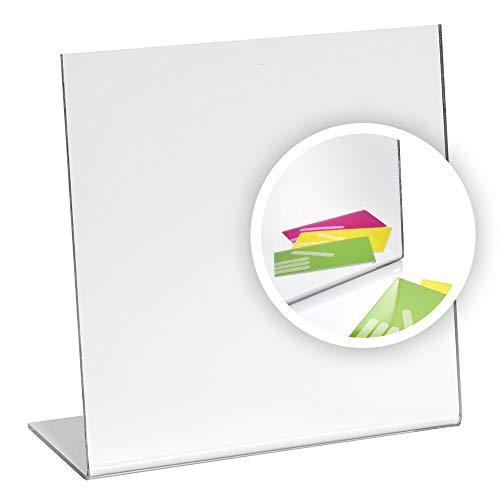 Zeigis Tischaufsteller/Spiegel/Tischspiegel 200x200mm aus Acrylglas