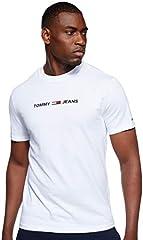 Small T Camiseta de Cuello Redondo y Logo Engomado para Hombre