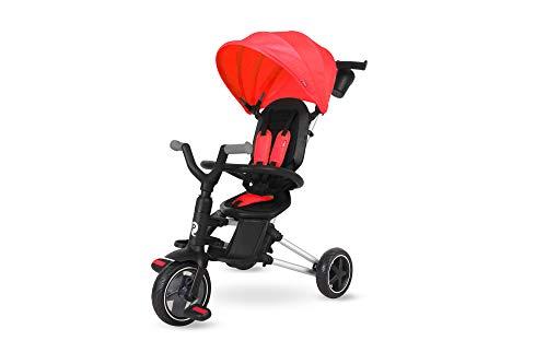 QPLAY- Nova Triciclo Evolutivo Pieghevole 3 in 1, Colore Rosso, QP500.05