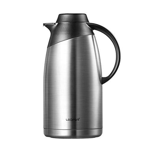 Household Products - 304 Acero Inoxidable Aislamiento Pot Hogar Agua Caliente Vacuum Thermos Coffee Pot (Color: Plata, Tamaño: 2L) / Código de Productos básicos: LJW-277 (Color : Silver, Size : 2L)
